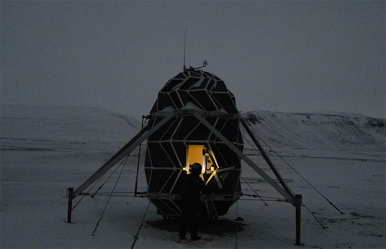 Lunark space habitat in Greenland, Louis Poulsen project